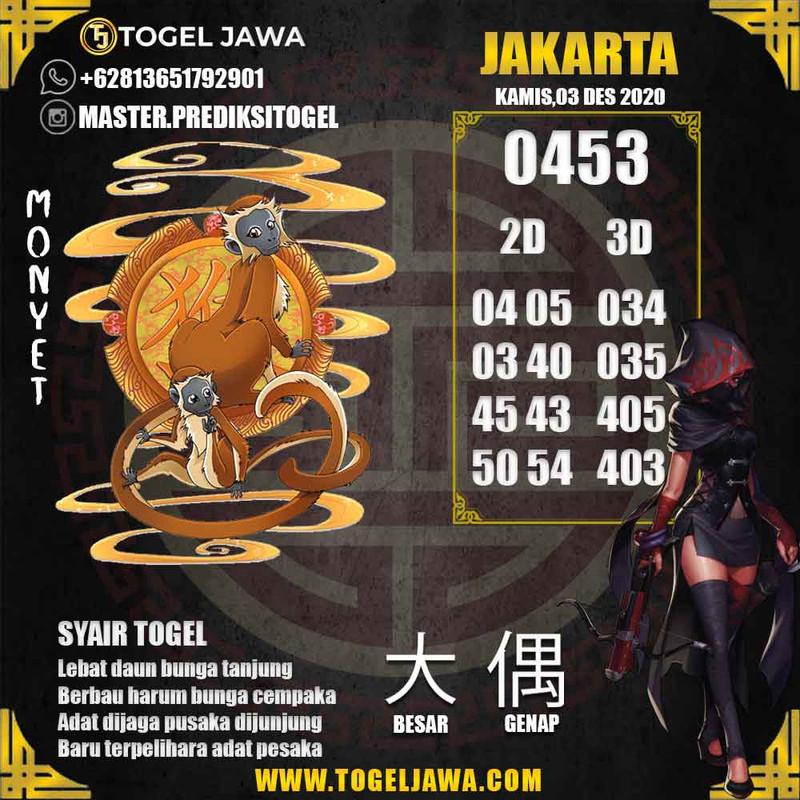 Prediksi Jakarta Tanggal 2020-12-03