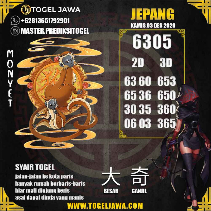 Prediksi Japan Tanggal 2020-12-03