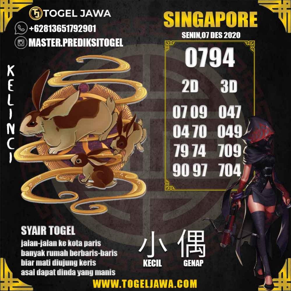 Prediksi Singapore Tanggal 2020-12-07