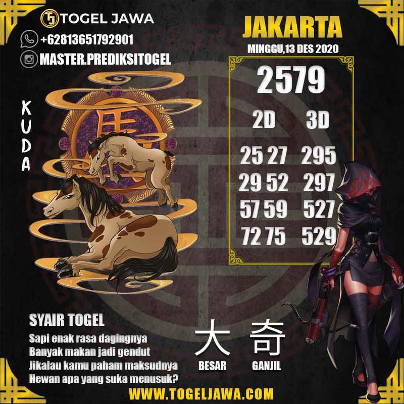 Prediksi Jakarta Tanggal 2020-12-13