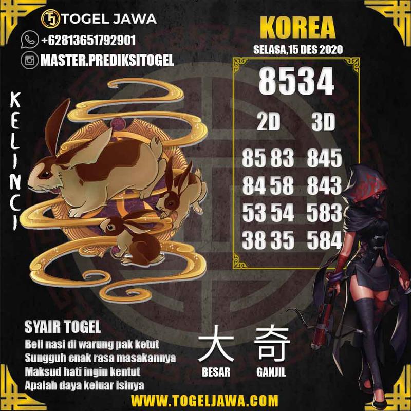 Prediksi Korea Tanggal 2020-12-15