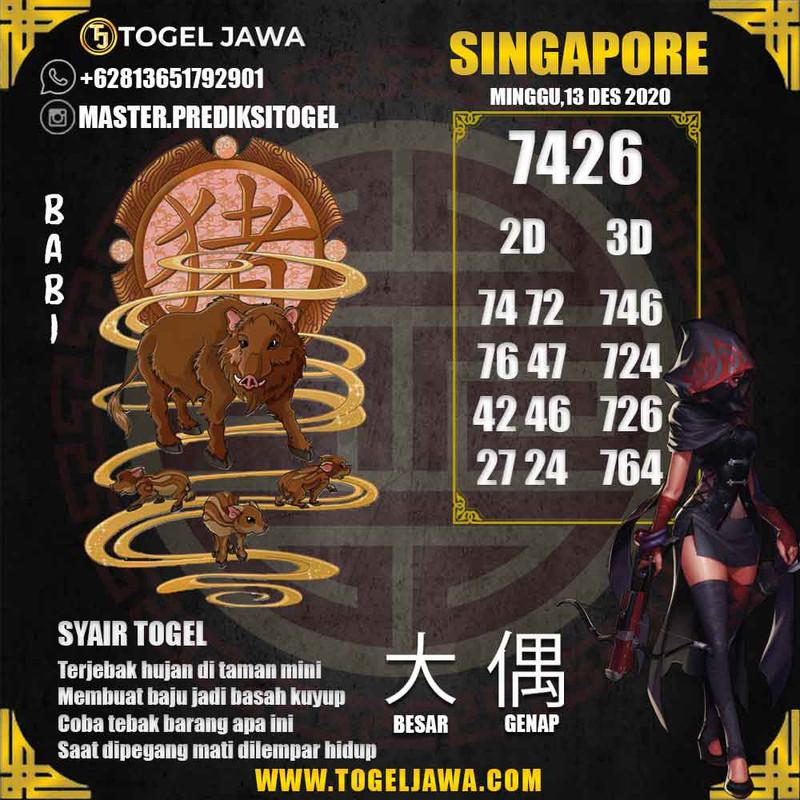 Prediksi Singapore Tanggal 2020-12-13