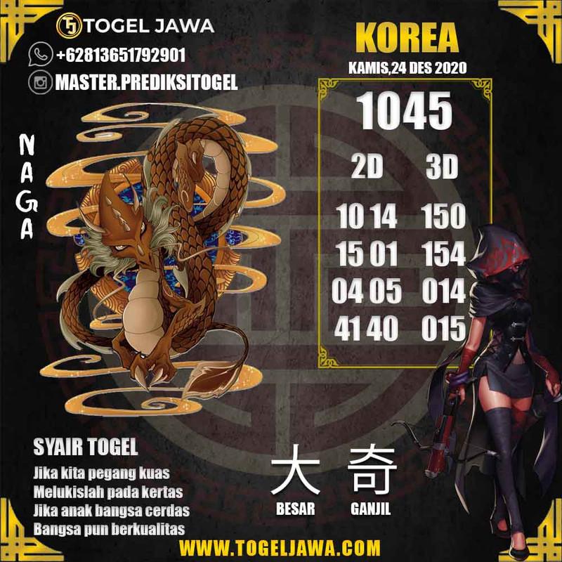 Prediksi Korea Tanggal 2020-12-24