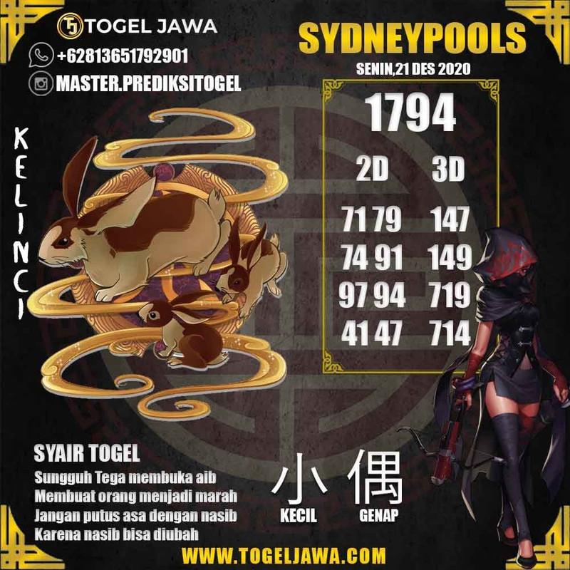 Prediksi Sydney Tanggal 2020-12-21