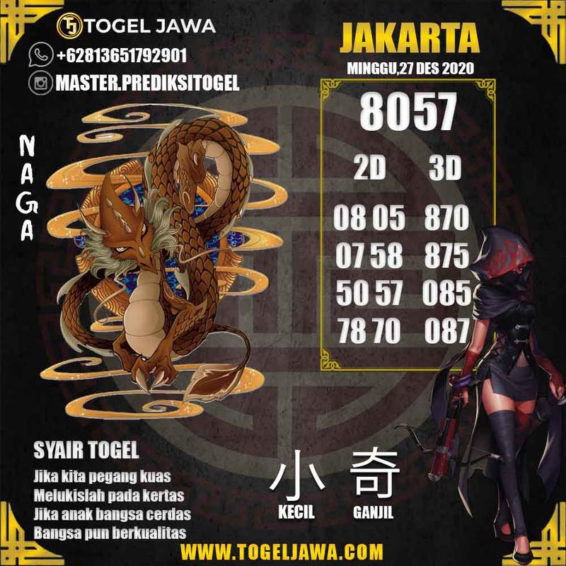 Prediksi Jakarta Tanggal 2020-12-27