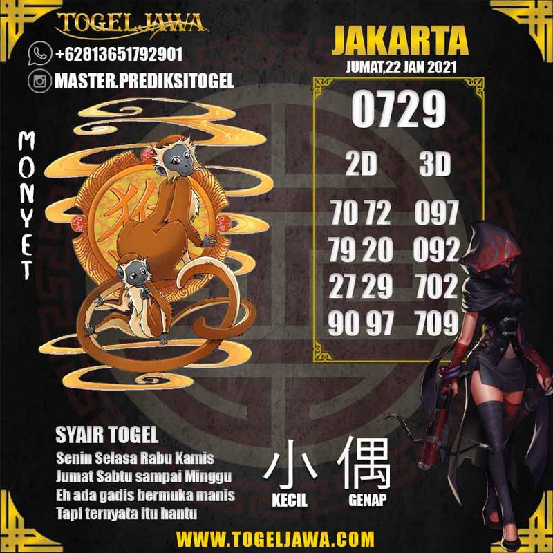 Prediksi Jakarta Tanggal 2021-01-22