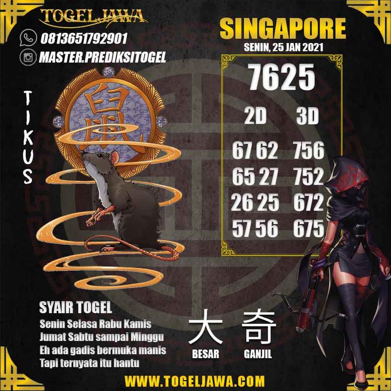 Prediksi Singapore Tanggal 2021-01-25