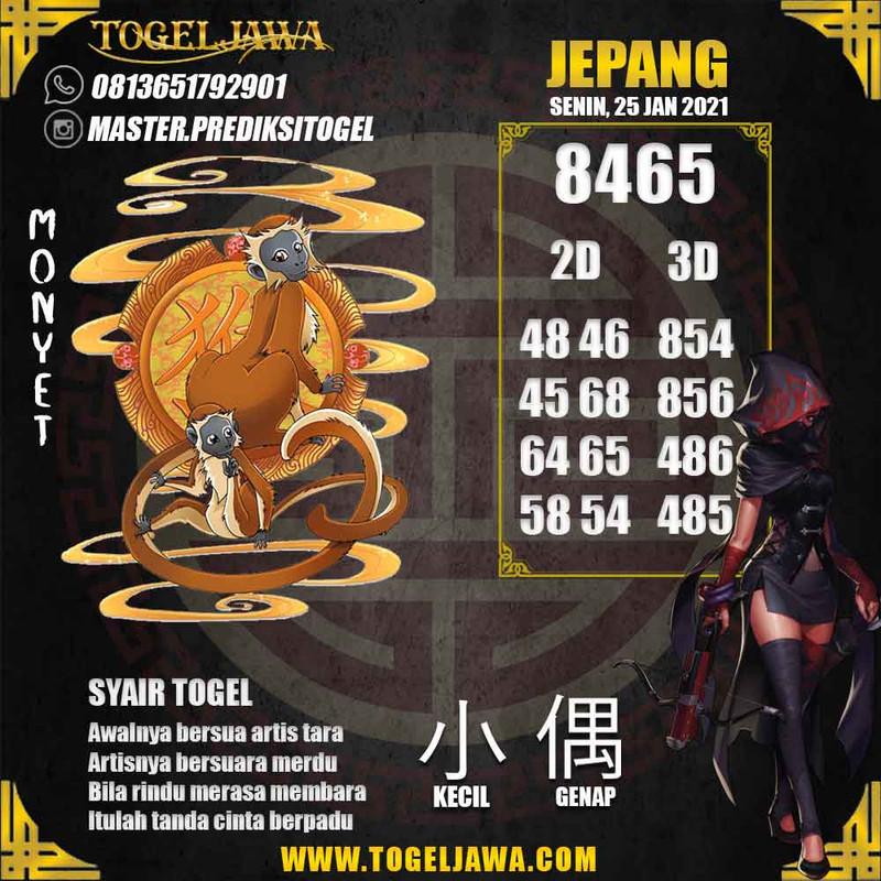 Prediksi Japan Tanggal 2021-01-25