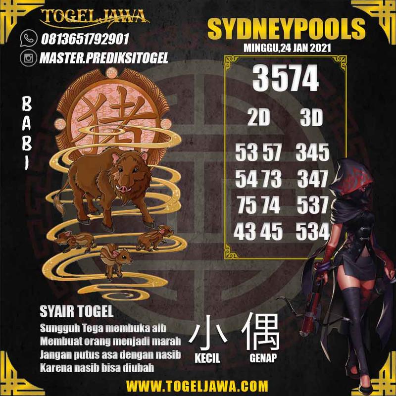 Prediksi Sydney Tanggal 2021-01-24