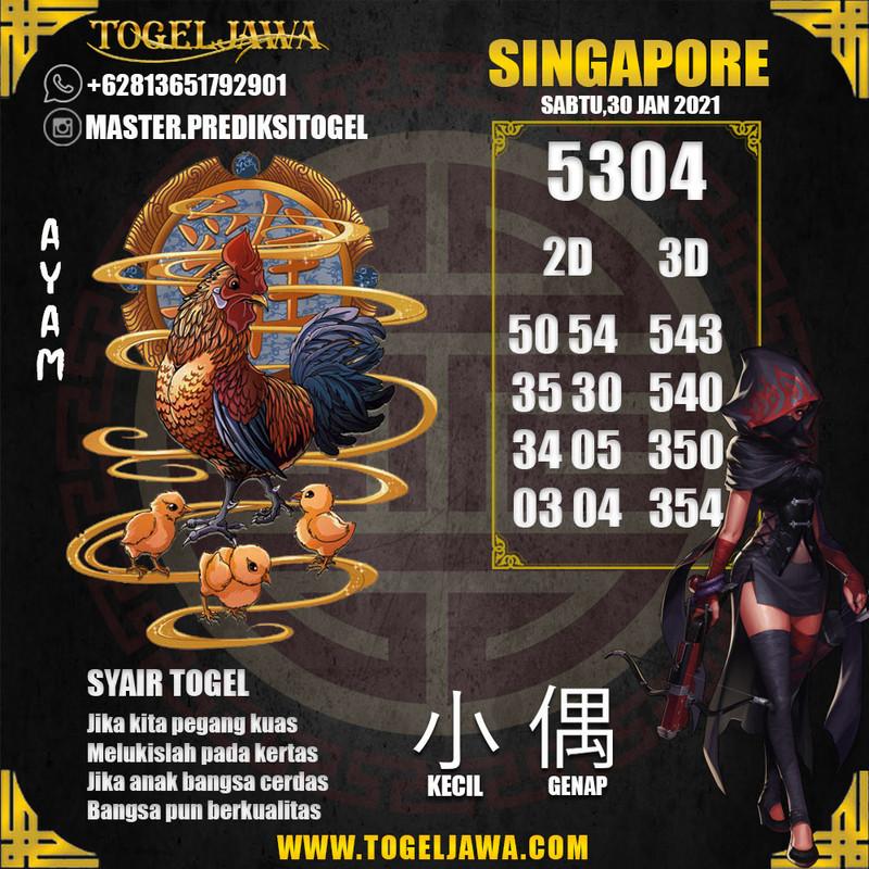 Prediksi Singapore Tanggal 2021-01-30