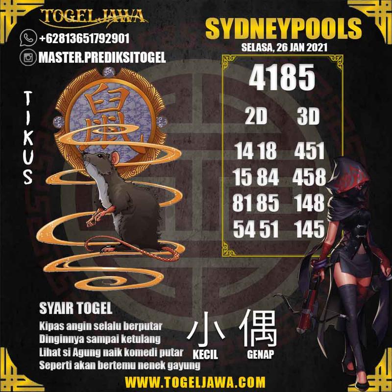 Prediksi Sydney Tanggal 2021-01-26