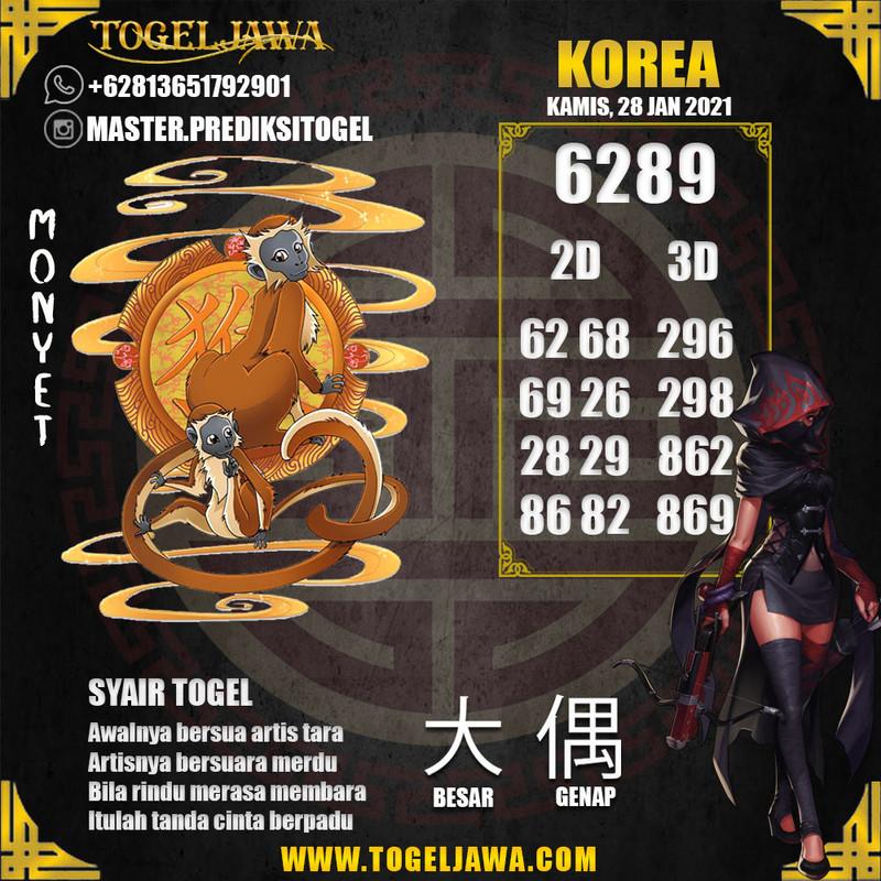 Prediksi Korea Tanggal 2021-01-28