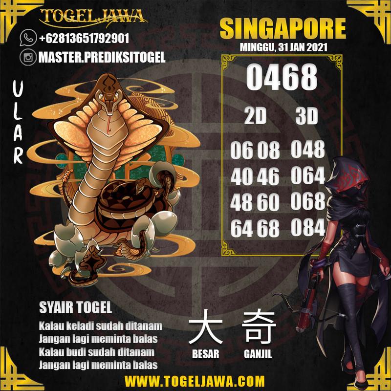Prediksi Singapore Tanggal 2021-01-31