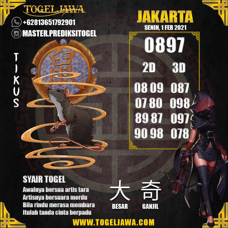 Prediksi Jakarta Tanggal 2021-02-01