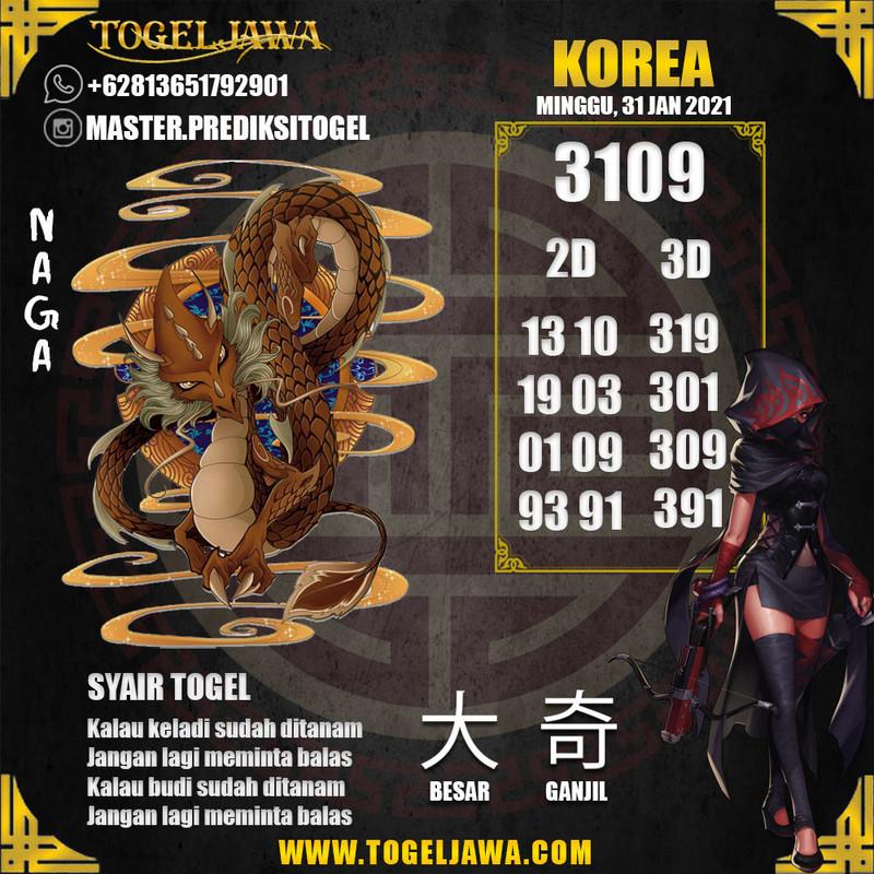 Prediksi Korea Tanggal 2021-01-31