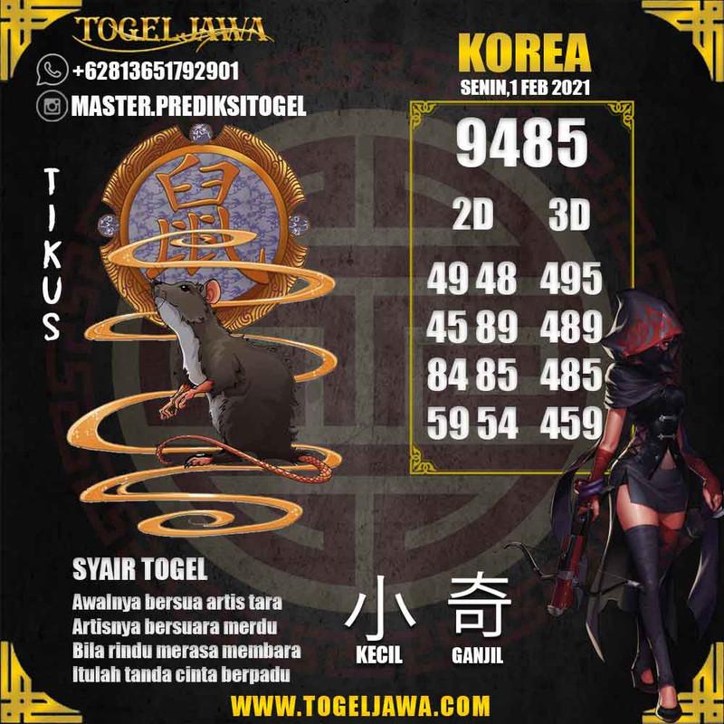 Prediksi Korea Tanggal 2021-02-01