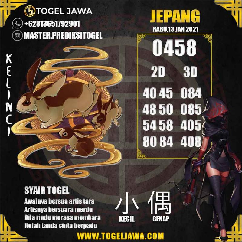 Prediksi Japan Tanggal 2021-01-13