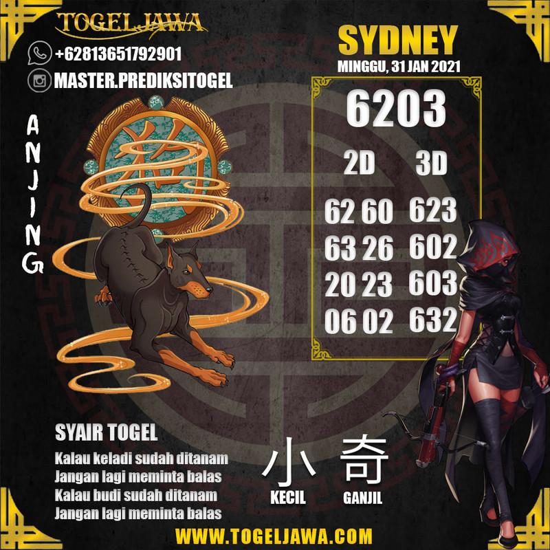 Prediksi Sydney Tanggal 2021-01-31