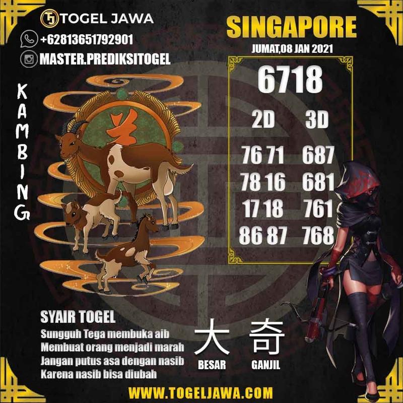 Prediksi Singapore Tanggal 2021-01-08