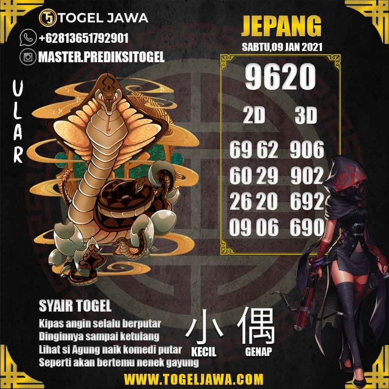 Prediksi Japan Tanggal 2021-01-09