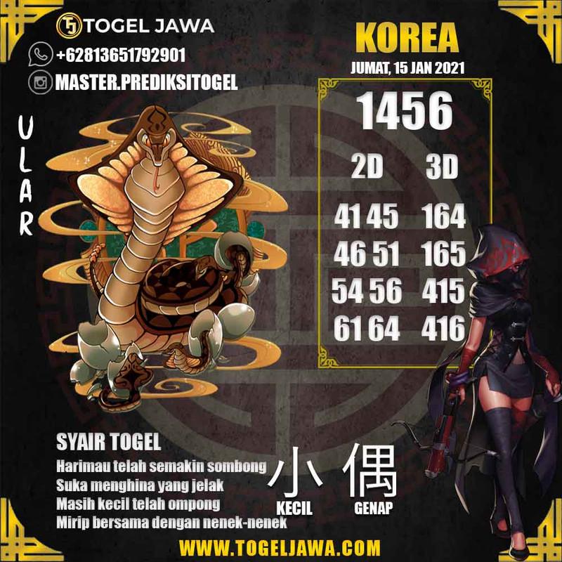 Prediksi Korea Tanggal 2021-01-15