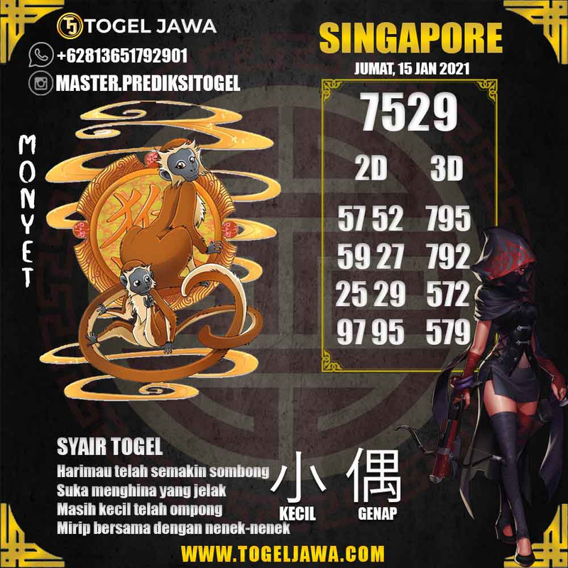 Prediksi Singapore Tanggal 2021-01-15