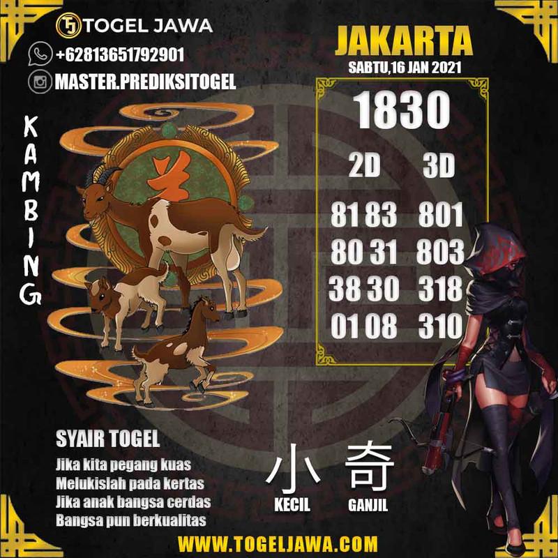 Prediksi Jakarta Tanggal 2021-01-16