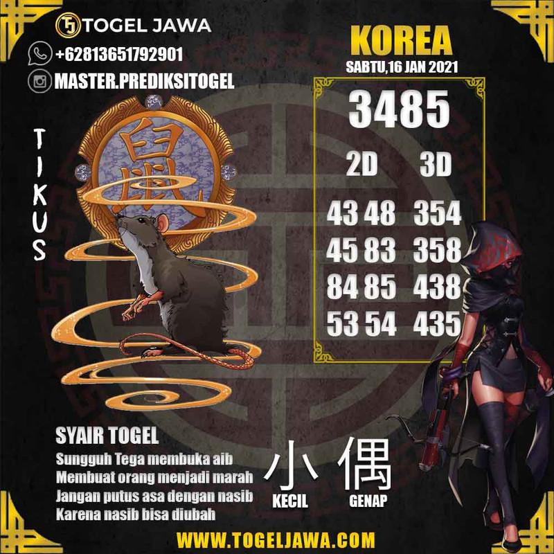 Prediksi Korea Tanggal 2021-01-16