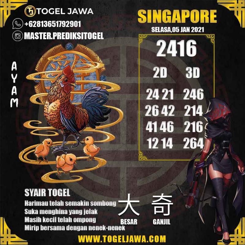 Prediksi Singapore Tanggal 2021-01-05