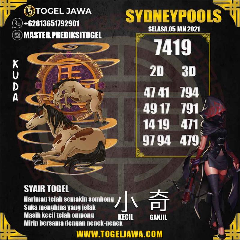 Prediksi Sydney Tanggal 2021-01-05