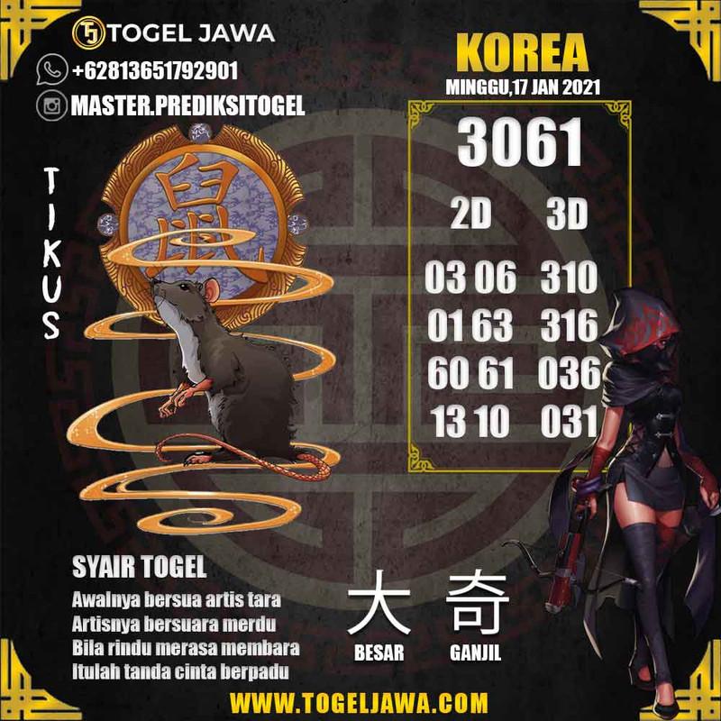 Prediksi Korea Tanggal 2021-01-17