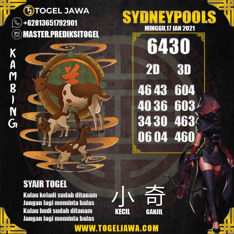Prediksi Sydney Tanggal 2021-01-17