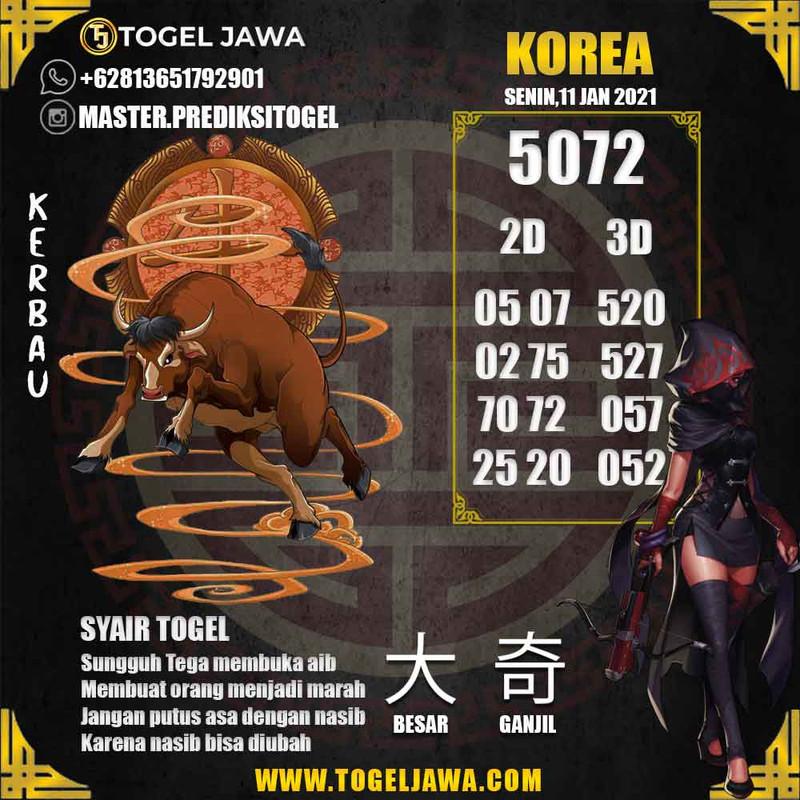 Prediksi Korea Tanggal 2021-01-11
