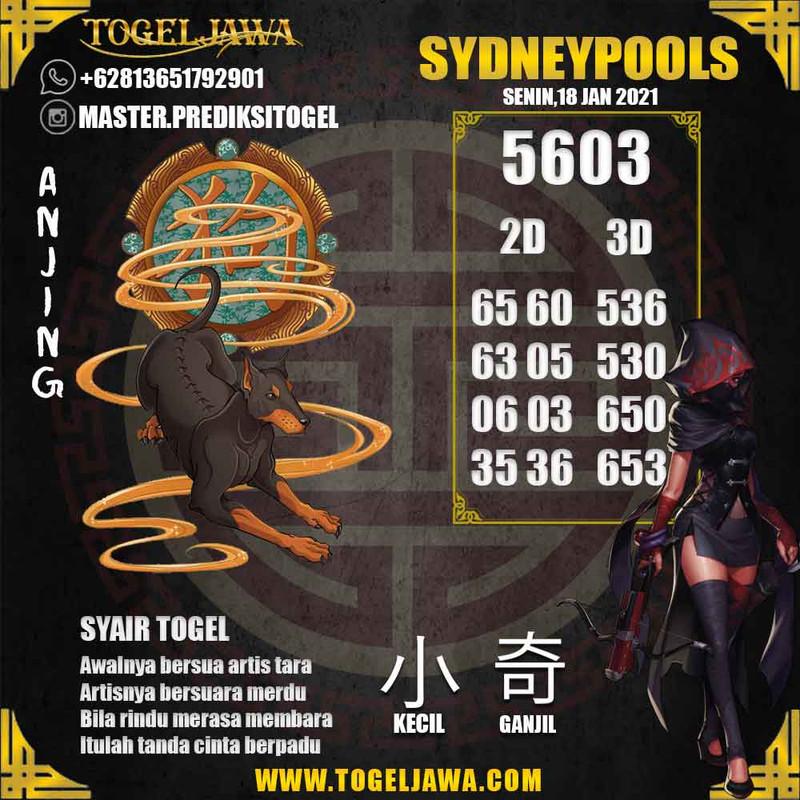 Prediksi Sydney Tanggal 2021-01-18