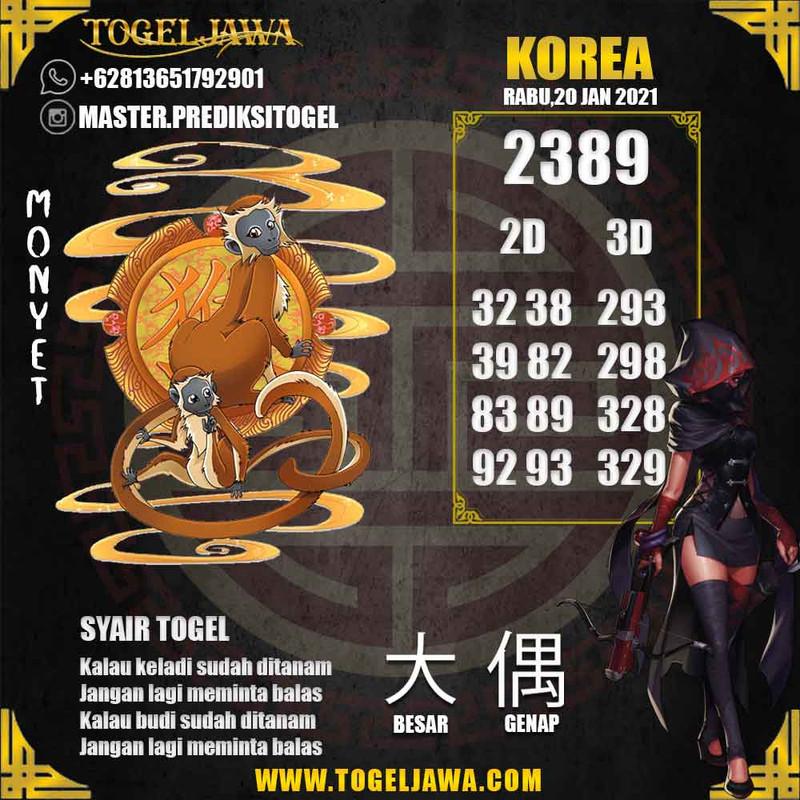 Prediksi Korea Tanggal 2021-01-20
