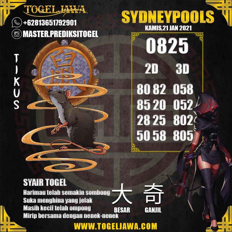 Prediksi Sydney Tanggal 2021-01-21