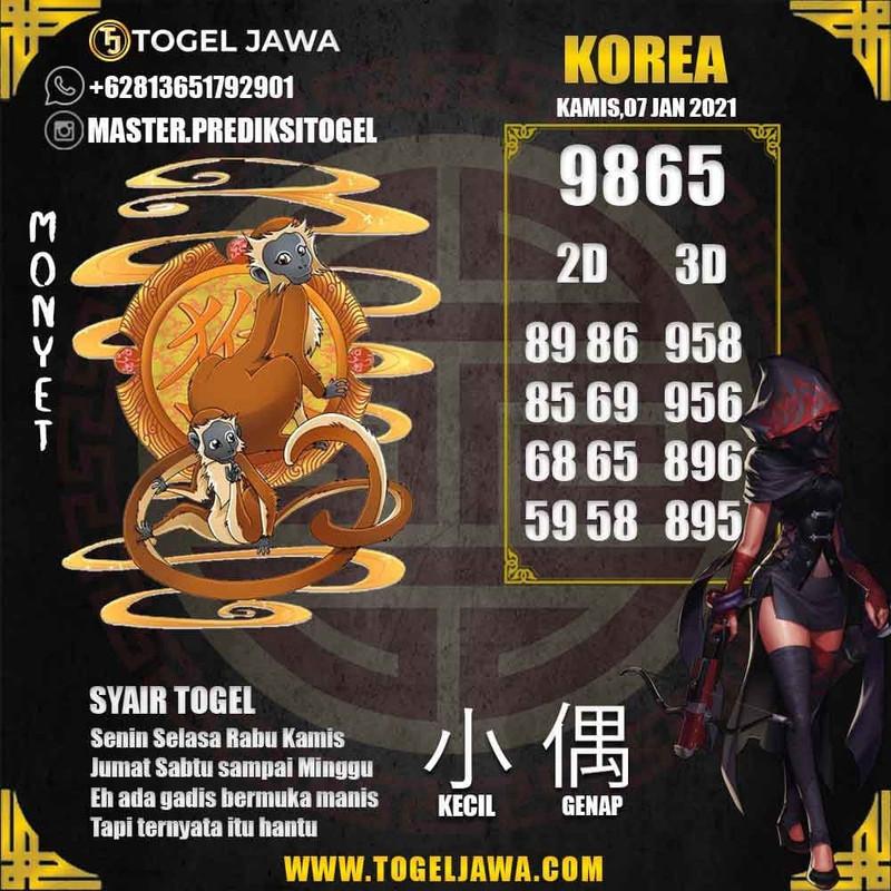 Prediksi Korea Tanggal 2021-01-07