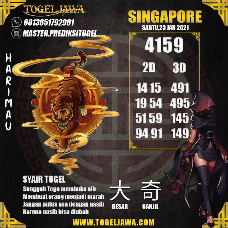 Prediksi Singapore Tanggal 2021-01-23