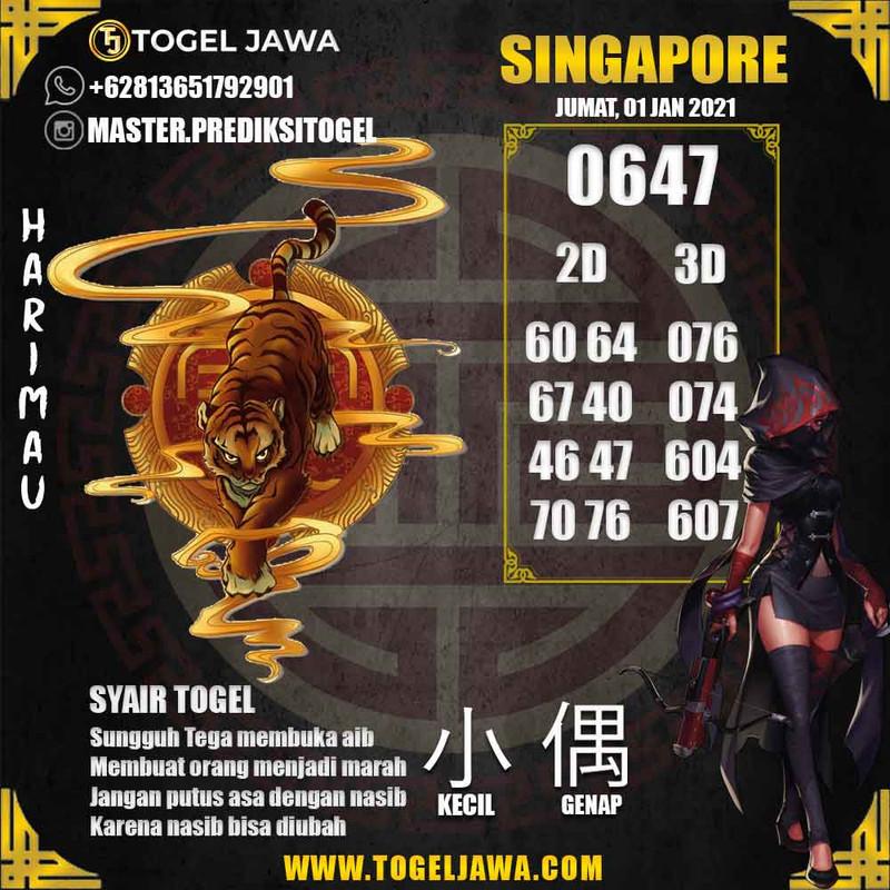 Prediksi Singapore Tanggal 2021-01-01