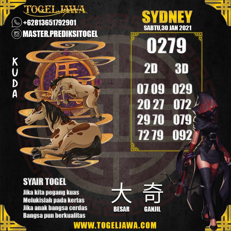 Prediksi Sydney Tanggal 2021-01-30