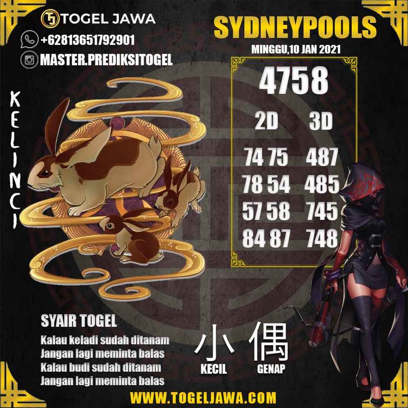 Prediksi Sydney Tanggal 2021-01-10