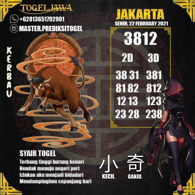 Prediksi Jakarta Tanggal 2021-02-22
