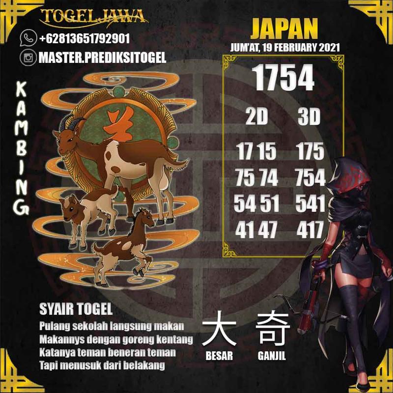 Prediksi Japan Tanggal 2021-02-19