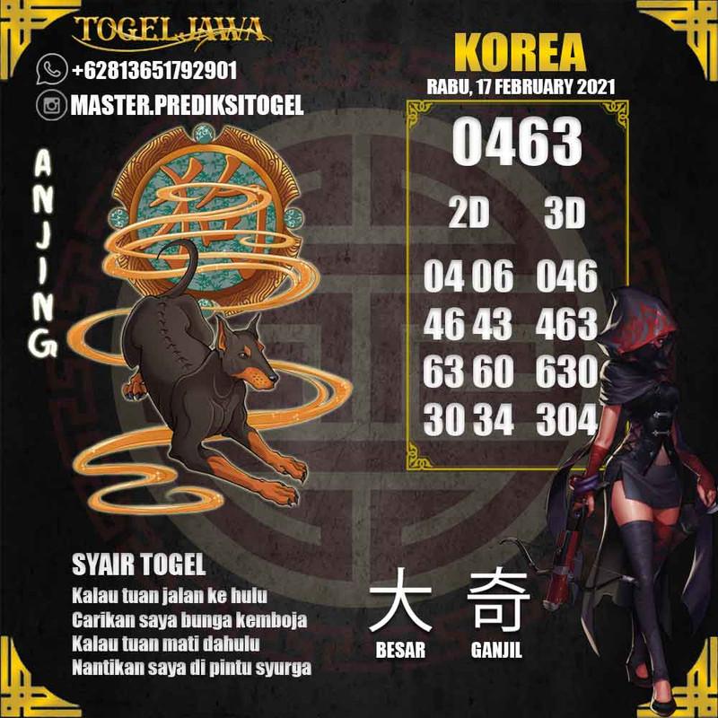 Prediksi Korea Tanggal 2021-02-17