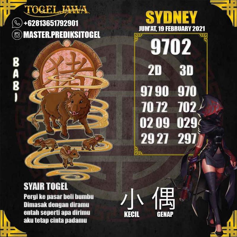Prediksi Sydney Tanggal 2021-02-19