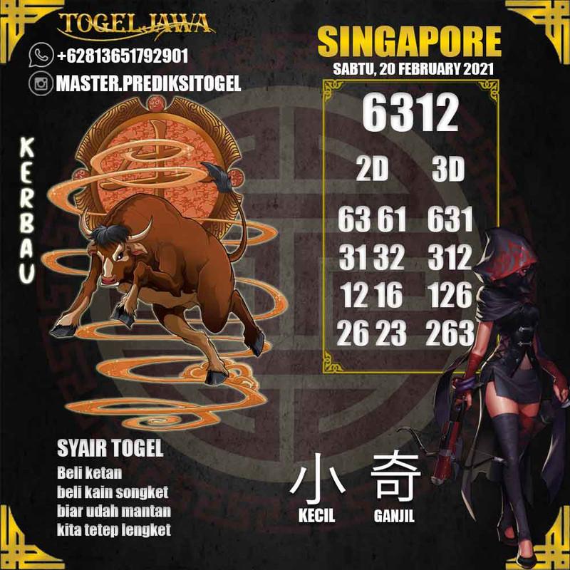 Prediksi Singapore Tanggal 2021-02-20