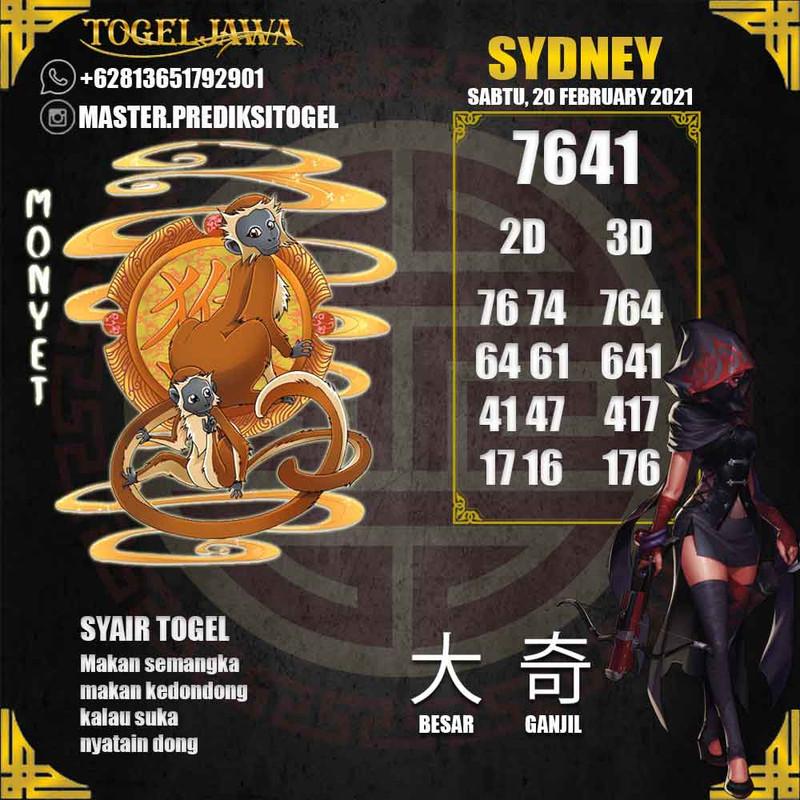 Prediksi Sydney Tanggal 2021-02-20