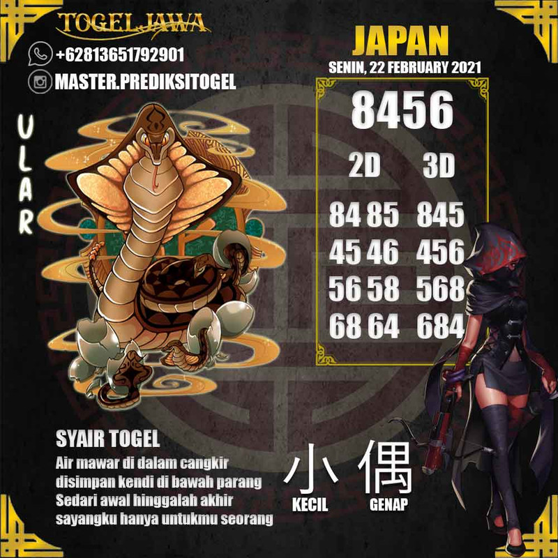 Prediksi Japan Tanggal 2021-02-22