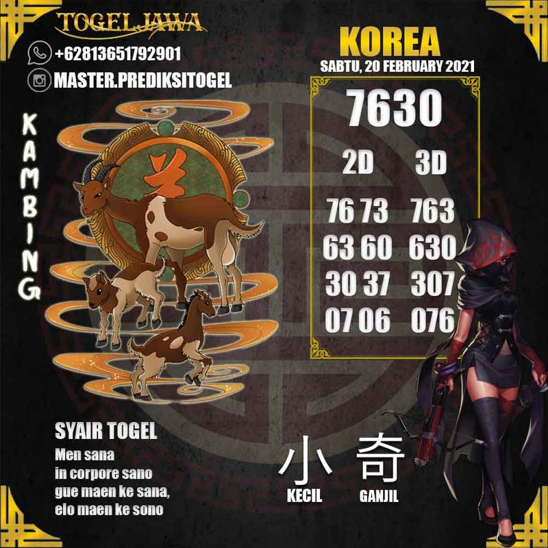 Prediksi Korea Tanggal 2021-02-20