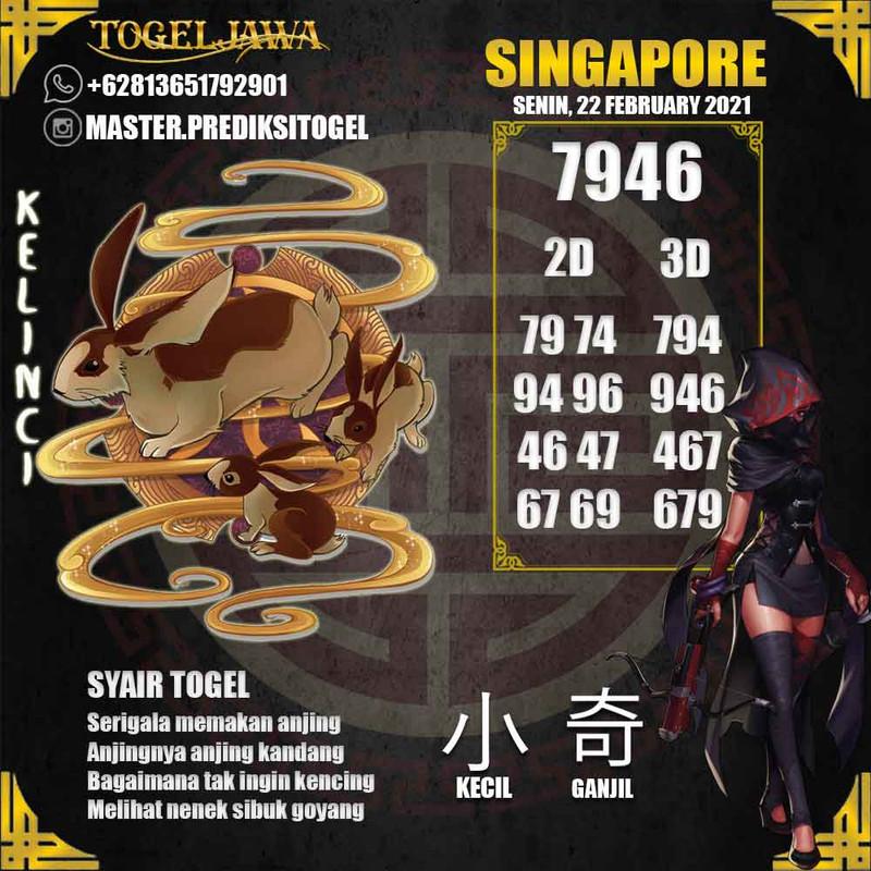 Prediksi Singapore Tanggal 2021-02-22